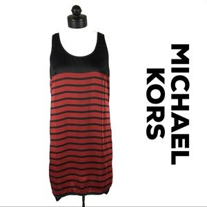 Michael Kors Red & Black Striped Tunic Tank size M